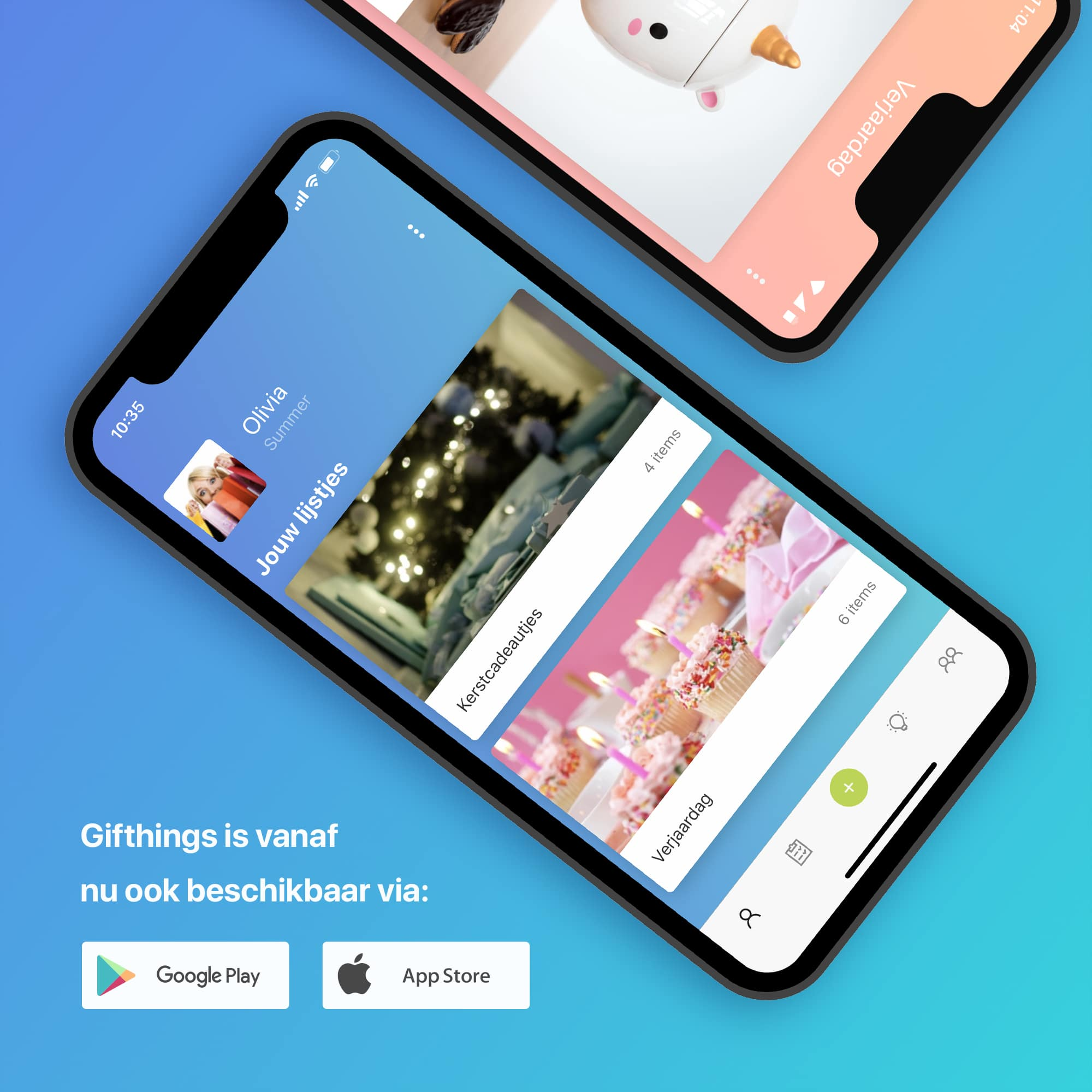 Gifthings mobiele apps